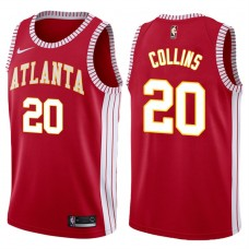 2017-18 John Collins Atlanta Hawks #20 Red Hardwood Classic Edition Swingman Jersey