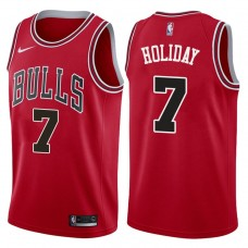 2017-18 Season Justin Holiday Chicago Bulls #7 Icon Red Jersey