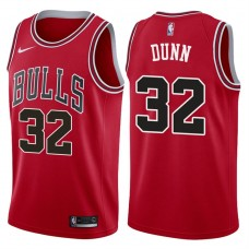 2017-18 Season Kris Dunn Chicago Bulls #32 Icon Red Jersey