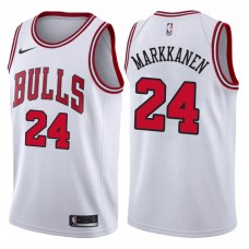 2017-18 Season Lauri Markkanen Chicago Bulls #24 Association White Jersey