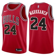2017-18 Season Lauri Markkanen Chicago Bulls #24 Icon Red Jersey