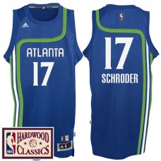 2016-17 Season Atlanta Hawks #17 Hardwood Classics Throwback Royal Jersey Dennis Schroder