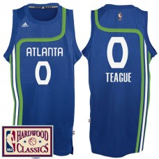 2016-17 Season Atlanta Hawks #0 Hardwood Classics Throwback Royal Jersey Jeff Teague