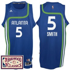2016-17 Season Atlanta Hawks #5 Hardwood Classics Throwback Royal Jersey Josh Smith