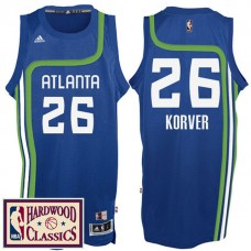 2016-17 Season Atlanta Hawks #26 Hardwood Classics Throwback Royal Jersey Kyle Korver