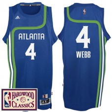 2016-17 Season Atlanta Hawks #4 Hardwood Classics Throwback Royal Jersey Spud Webb