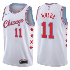 2017-18 Season David Nwaba Chicago Bulls #11 City Edition White Swingman Jersey