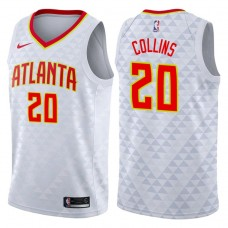 2017-18 Season John Collins Atlanta Hawks #20 Association White Swingman Jersey