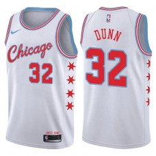 2017-18 Season Kris Dunn Chicago Bulls #32 City Edition White Swingman Jersey